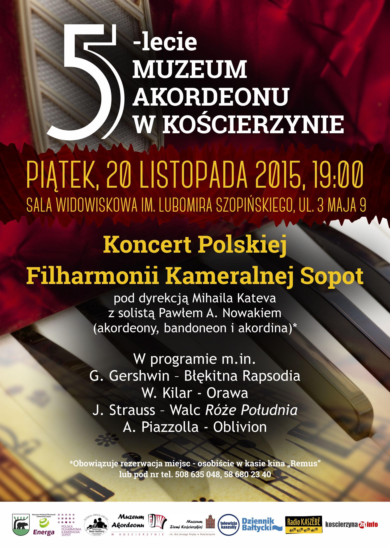 5-lecie muzeum akordeonu w koscierzynie PLAKAT